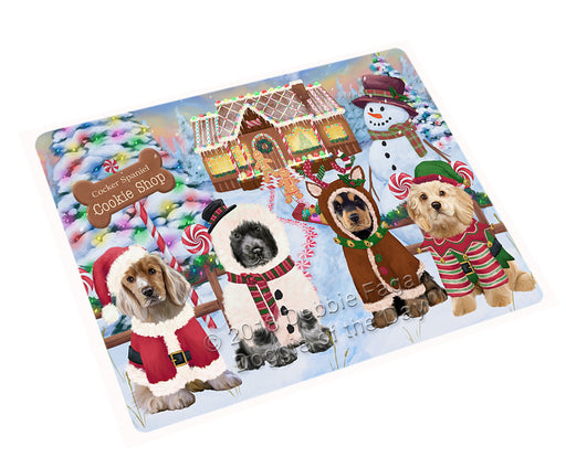 Holiday Gingerbread Cookie Shop Cocker Spaniels Dog Large Refrigerator / Dishwasher Magnet RMAG100638