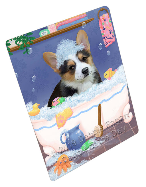 Rub A Dub Dog In A Tub Corgi Dog Refrigerator / Dishwasher Magnet RMAG109116
