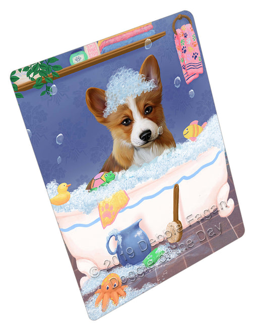 Rub A Dub Dog In A Tub Corgi Dog Refrigerator / Dishwasher Magnet RMAG109122