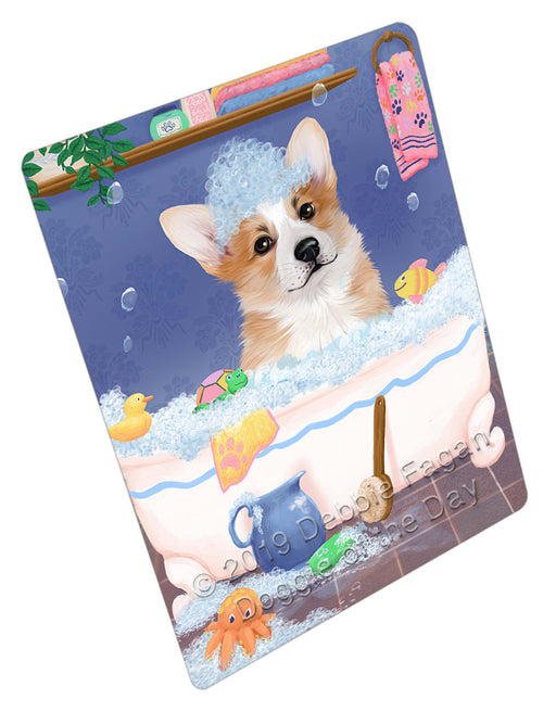 Rub A Dub Dog In A Tub Corgi Dog Refrigerator / Dishwasher Magnet RMAG109128