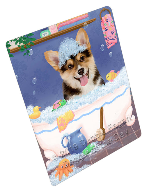 Rub A Dub Dog In A Tub Corgi Dog Refrigerator / Dishwasher Magnet RMAG109134