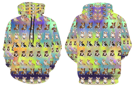 Paradise Wave Corgi Dogs All Over Print Kid's Hoodie