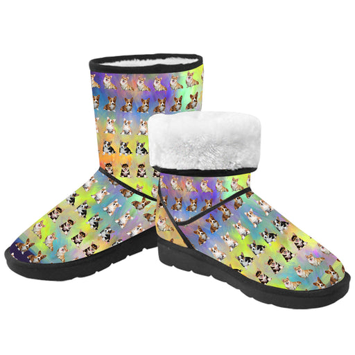 Paradise Wave Corgi Dogs  Kid's Snow Boots
