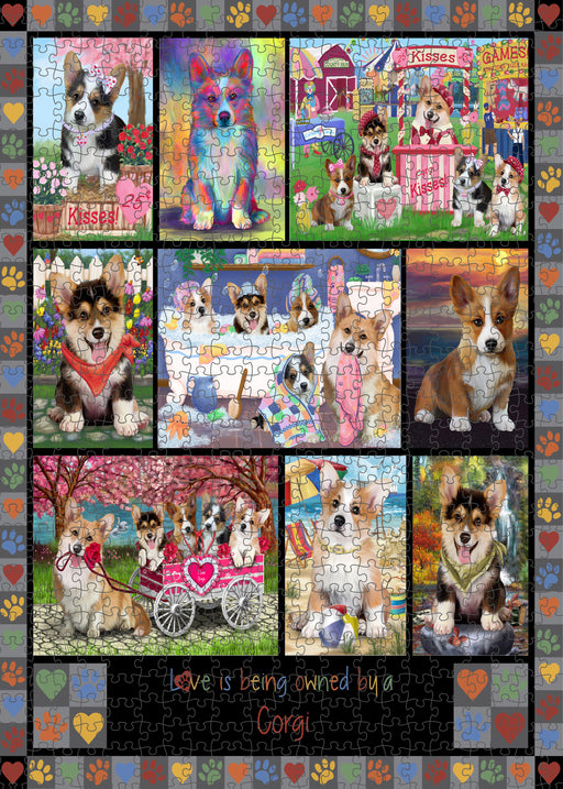 Love is Being Owned Corgi Dog Grey Puzzle with Photo Tin PUZL98408