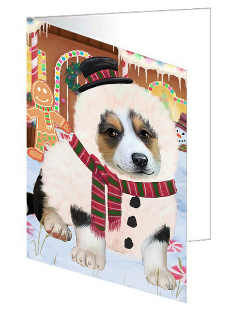 Christmas Gingerbread House Candyfest Corgi Dog Note Card NCD73478
