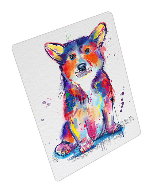 Watercolor Corgi Dog Refrigerator / Dishwasher Magnet RMAG104910