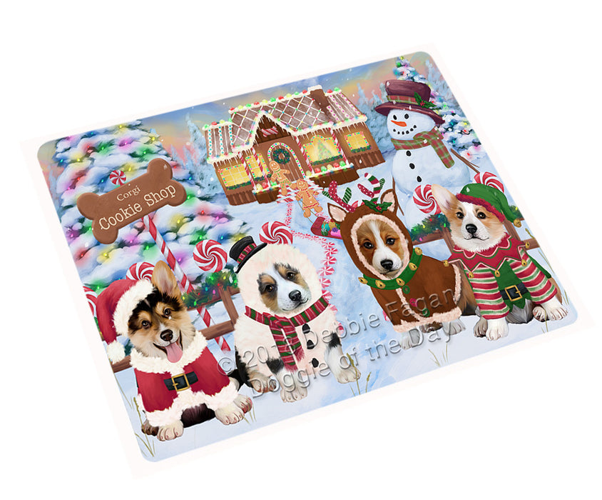 "Holiday Gingerbread Cookie Shop Corgis Dog Magnet MAG74326 (Mini 3.5"" x 2"")"