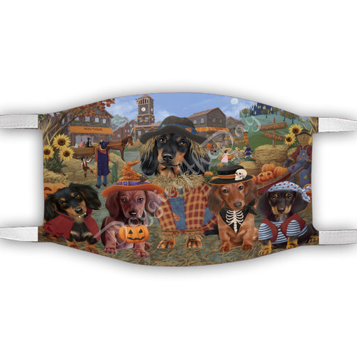 Halloween 'Round Town Dachshund Dogs Face Mask FM49950