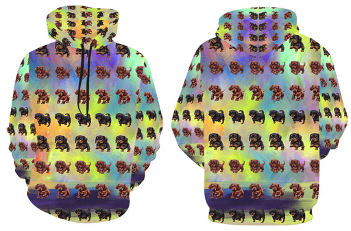 Paradise Wave Dachshund Dogs All Over Print Kid's Hoodie