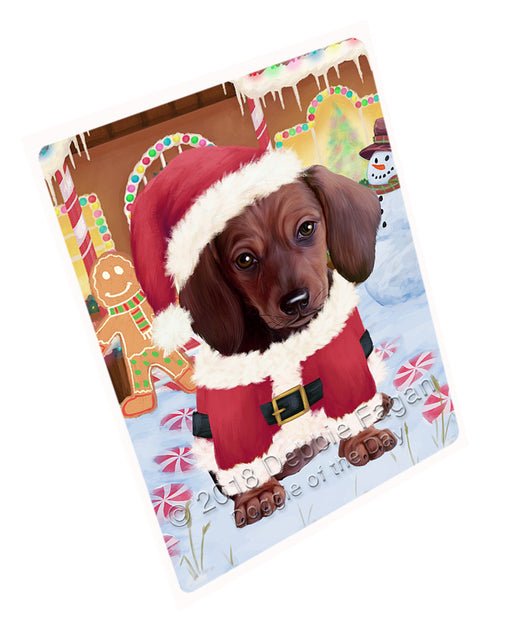 Christmas Gingerbread House Candyfest Dachshund Dog Large Refrigerator / Dishwasher Magnet RMAG99636