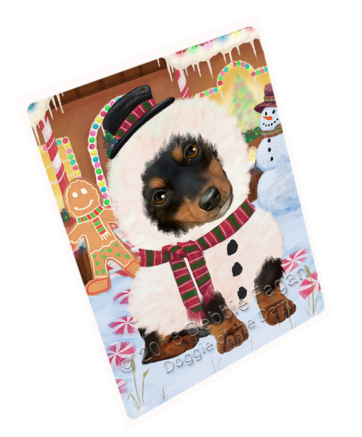 Christmas Gingerbread House Candyfest Dachshund Dog Large Refrigerator / Dishwasher Magnet RMAG99642