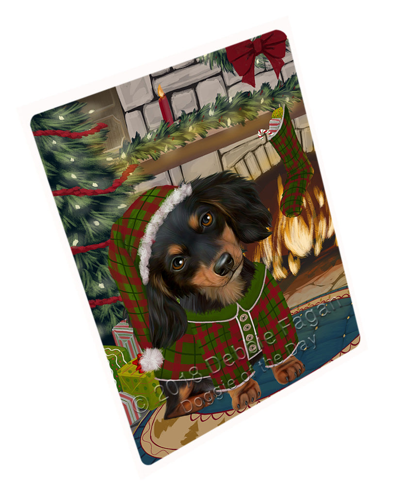 "The Stocking was Hung Dachshund Dog Magnet MAG71016 (Mini 3.5"" x 2"")"