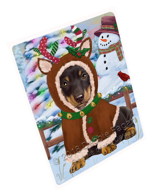Christmas Gingerbread House Candyfest Dachshund Dog Large Refrigerator / Dishwasher Magnet RMAG99648