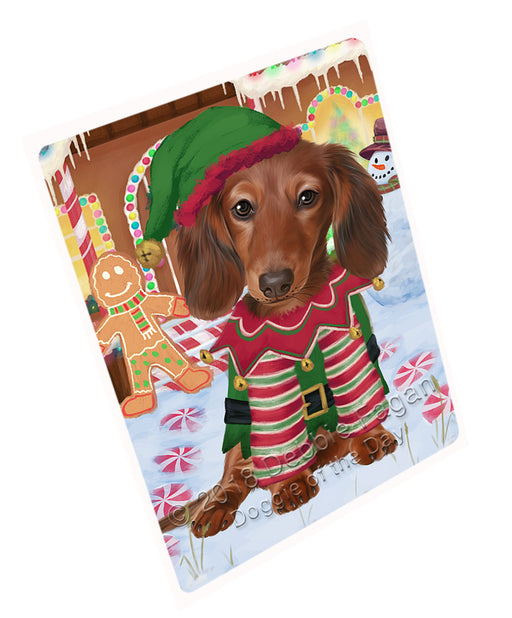 Christmas Gingerbread House Candyfest Dachshund Dog Large Refrigerator / Dishwasher Magnet RMAG99654