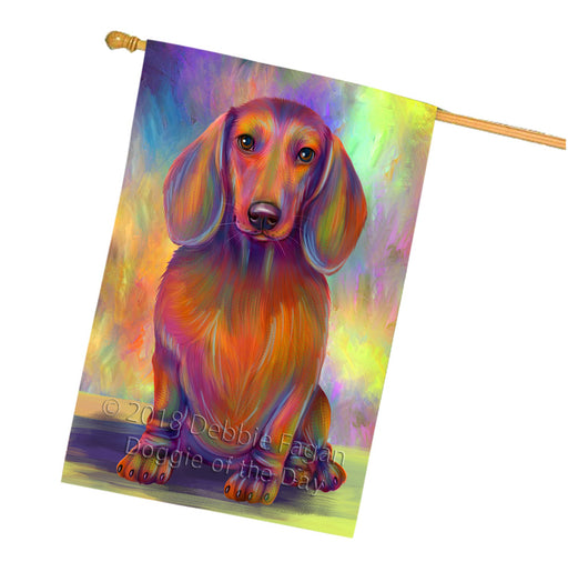 Paradise Wave Dachshund Dog House Flag FLG56750