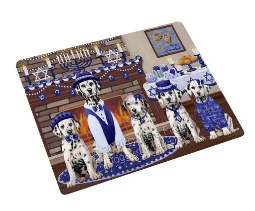 Happy Hanukkah Family and Happy Hanukkah Both Dalmatian Dogs Large Refrigerator / Dishwasher Magnet RMAG105462