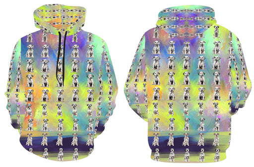Paradise Wave Dalmatian Dogs All Over Print Kid's Hoodie