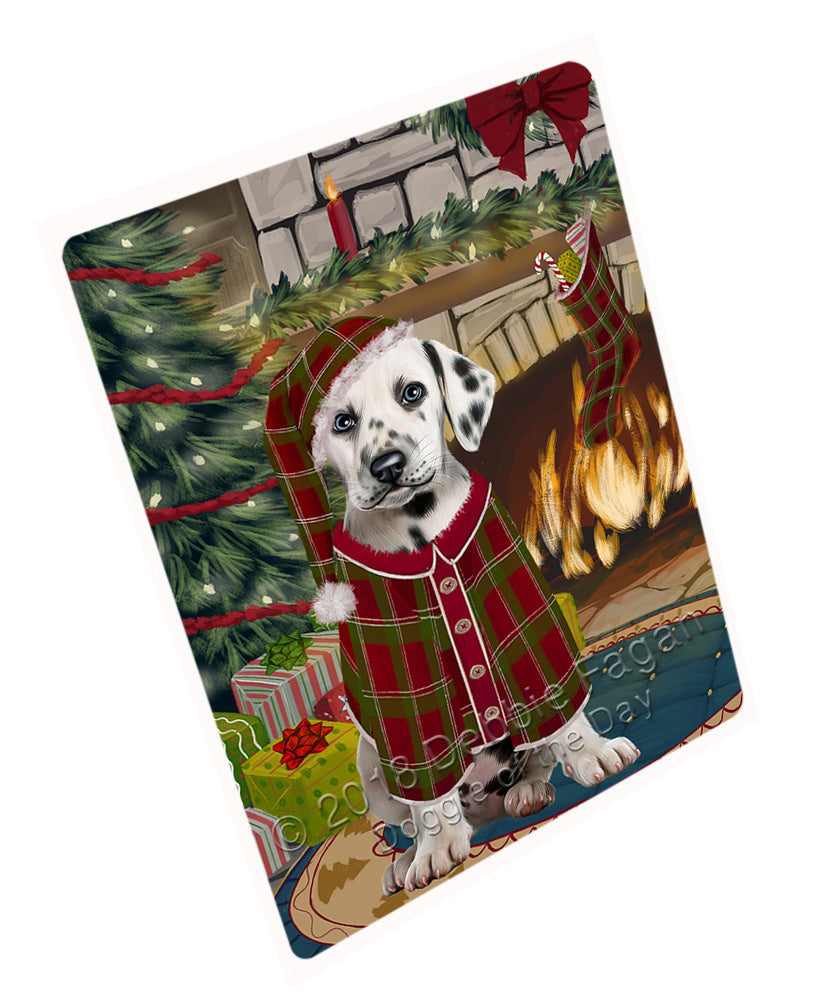"The Stocking was Hung Dalmatian Dog Magnet MAG71025 (Mini 3.5"" x 2"")"