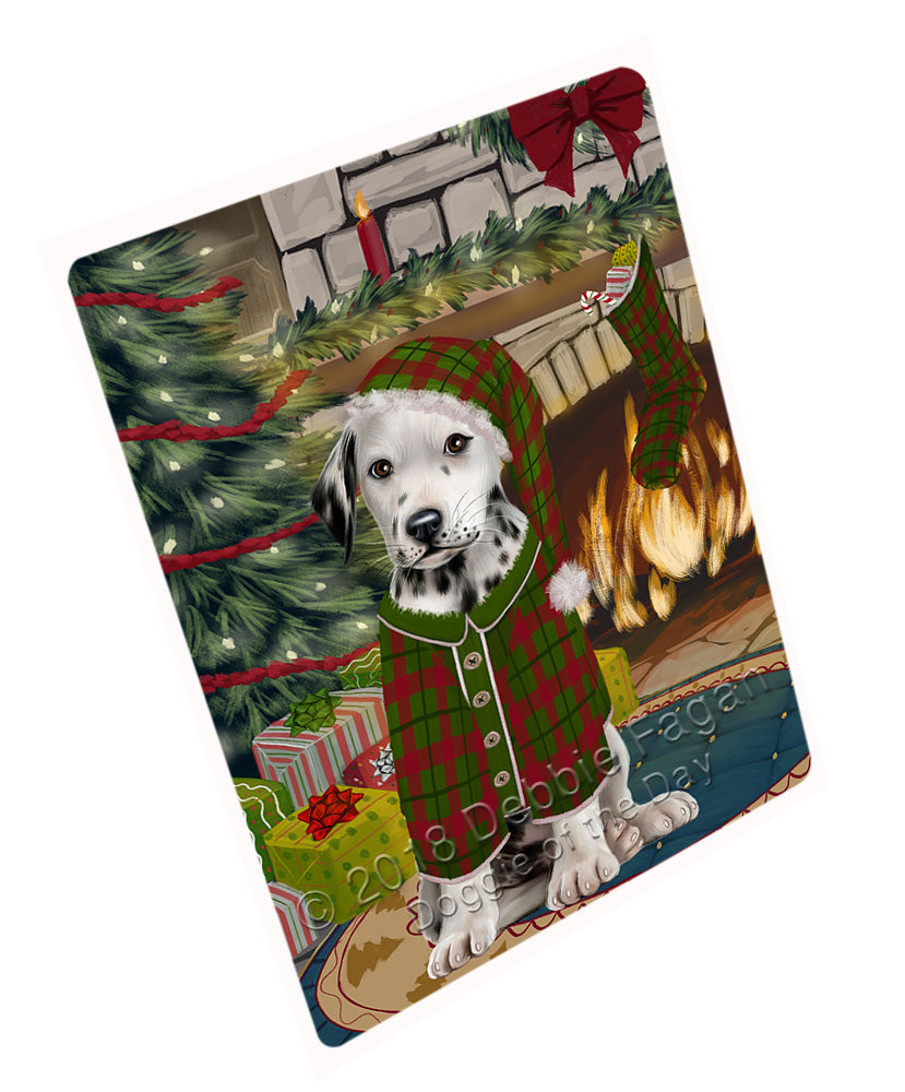"The Stocking was Hung Dalmatian Dog Magnet MAG71028 (Mini 3.5"" x 2"")"