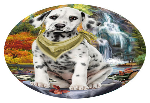 Scenic Waterfall Dalmatian Dog Oval Envelope Seals OVE63492