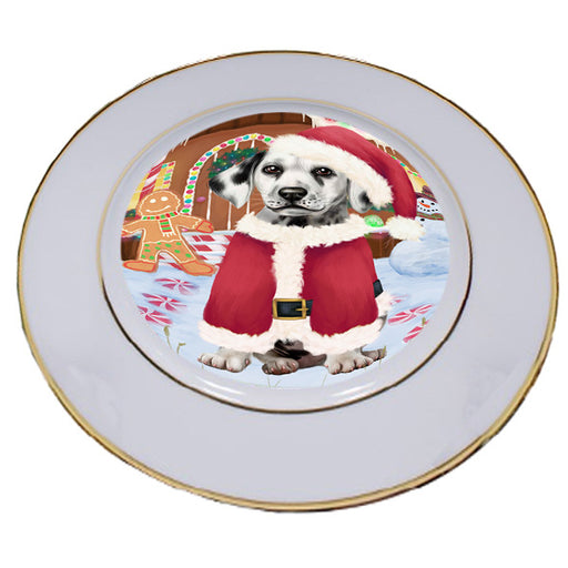 Christmas Gingerbread House Candyfest Dalmatian Dog Porcelain Plate PLT54673
