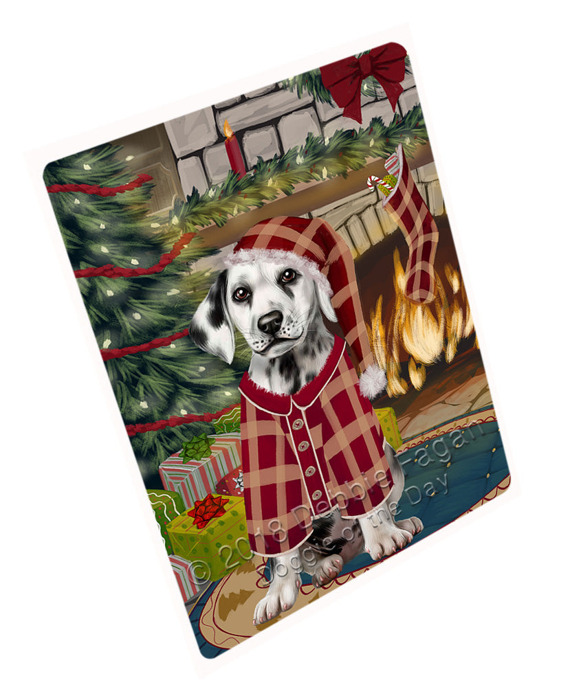 "The Stocking was Hung Dalmatian Dog Magnet MAG71031 (Mini 3.5"" x 2"")"