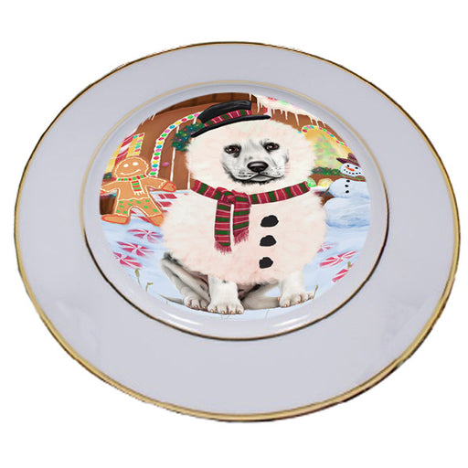 Christmas Gingerbread House Candyfest Dalmatian Dog Porcelain Plate PLT54674