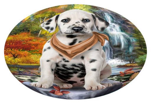 Scenic Waterfall Dalmatian Dog Oval Envelope Seals OVE63500
