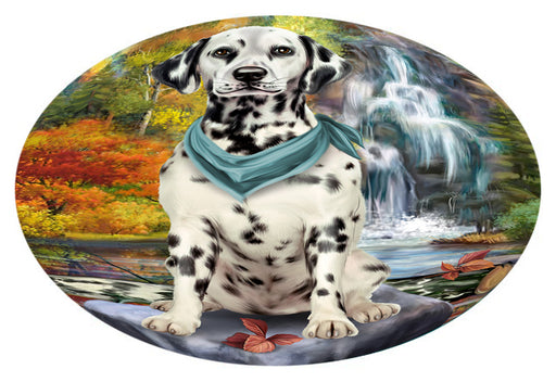 Scenic Waterfall Dalmatian Dog Oval Envelope Seals OVE63504