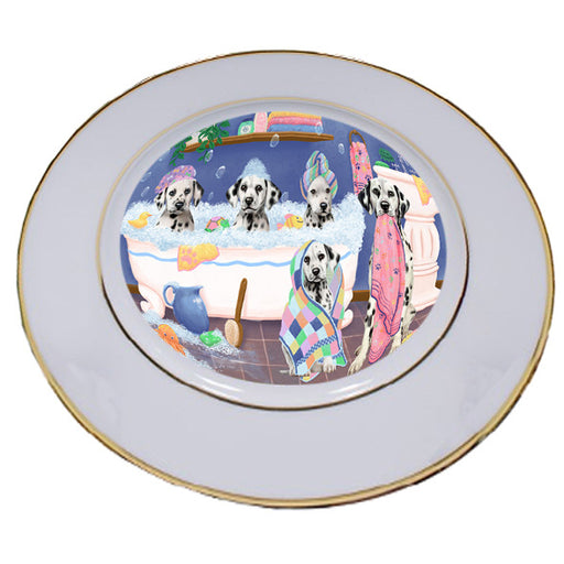Rub A Dub Dogs In A Tub Dalmatians Dog Porcelain Plate PLT55135