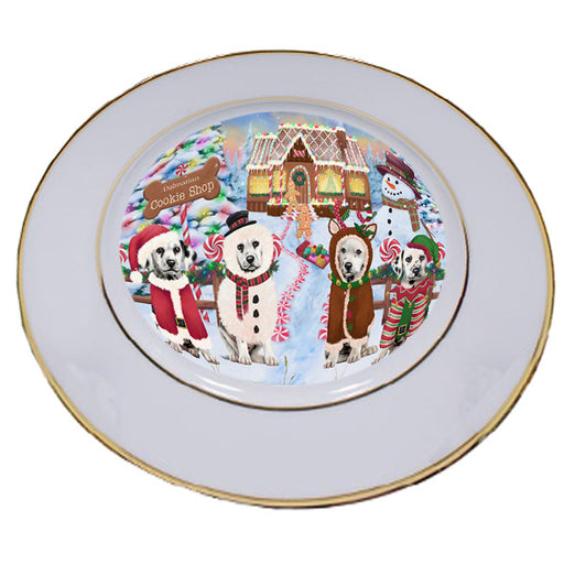 Holiday Gingerbread Cookie Shop Dalmatians Dog Porcelain Plate PLT54746