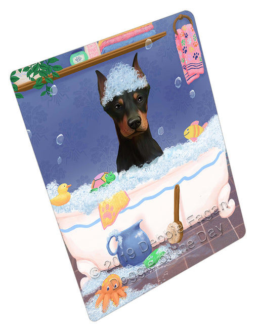 Rub A Dub Dog In A Tub Doberman Dog Refrigerator / Dishwasher Magnet RMAG109158