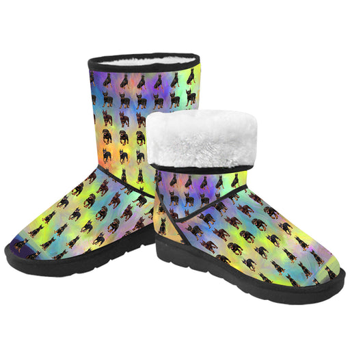 Paradise Wave Doberman Pinscher Dog  Kid's Snow Boots
