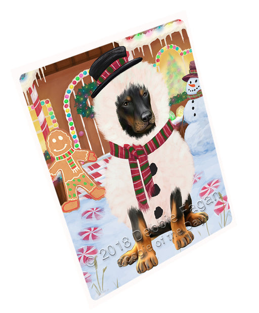 Christmas Gingerbread House Candyfest Doberman Pinscher Dog Large Refrigerator / Dishwasher Magnet RMAG100242