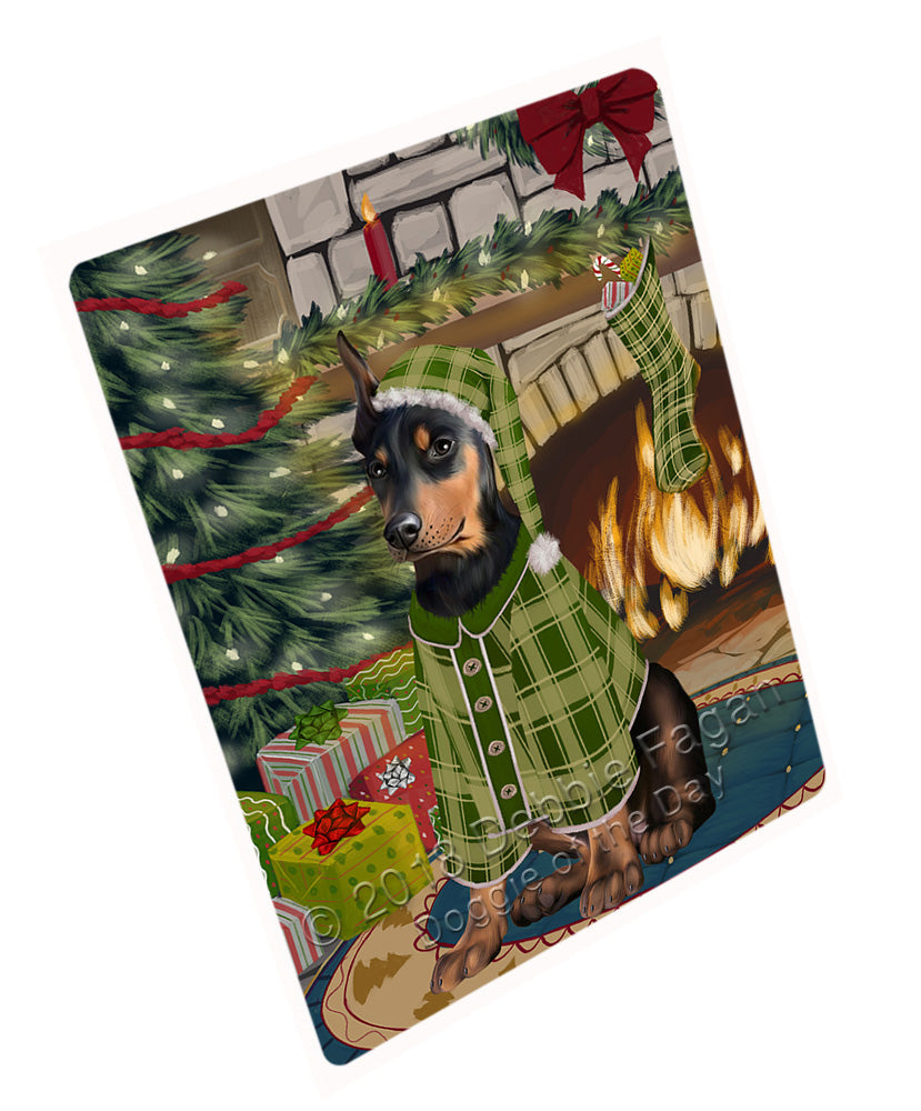 "The Stocking was Hung Doberman Pinscher Dog Magnet MAG71046 (Mini 3.5"" x 2"")"