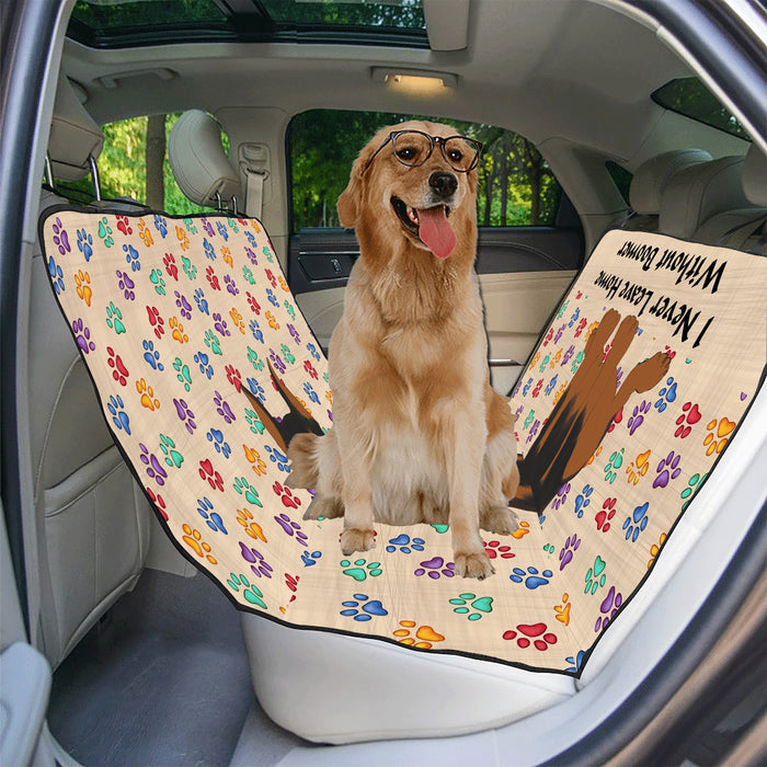 Personalized I Never Leave Home Paw Print Doberman Pinscher Dogs Pet Back Car Seat Cover