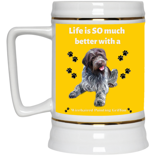 Beer Stein 22oz. Wirehaired Pointing Griffon