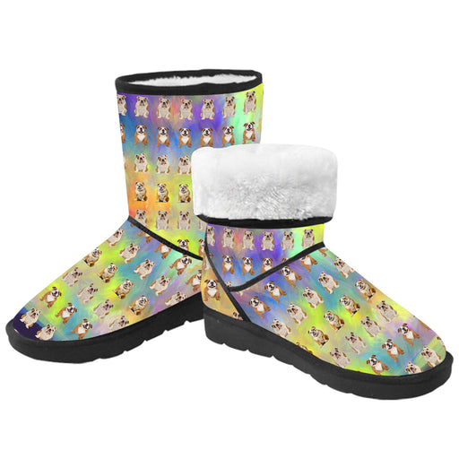 Paradise Wave English Bulldogs  Kid's Snow Boots