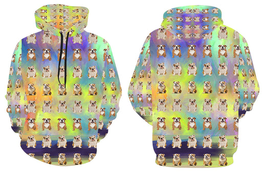 Paradise Wave English Bulldogs All Over Print Kid's Hoodie
