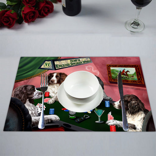 Home of  English Springer Spaniel Dogs Playing Poker Placemat