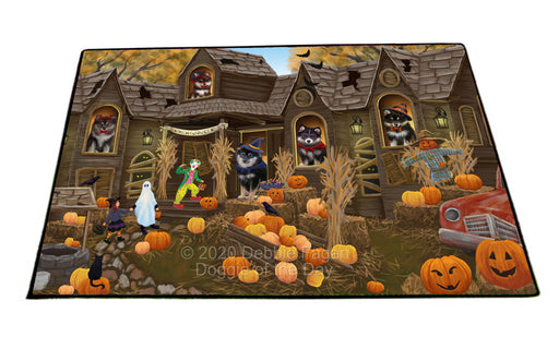Haunted House Halloween Trick or Treat Finnish Lapphund Dogs Floormat FLMS55648