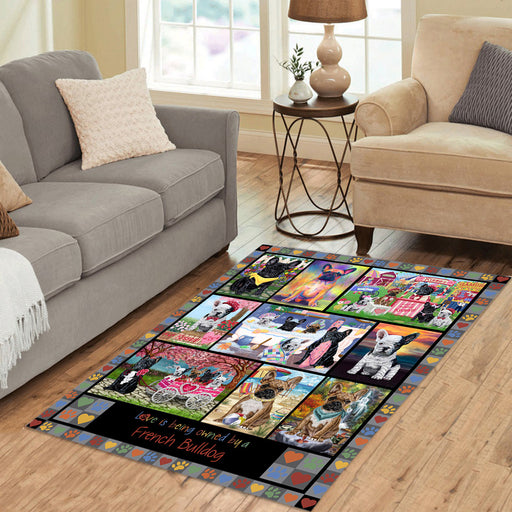 Love is Being Owned French Bulldog Grey Area Rug
