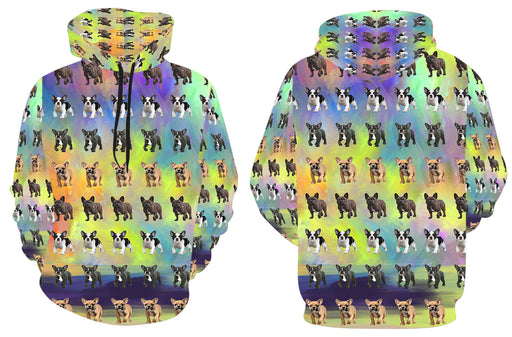Paradise Wave French Bulldogs All Over Print Kid's Hoodie