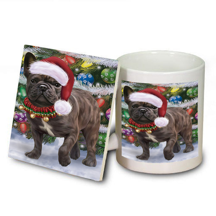 Trotting in the Snow French Bulldog Mug and Coaster Set MUC55432