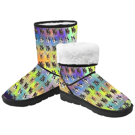 Paradise Wave French Bulldogs  Kid's Snow Boots