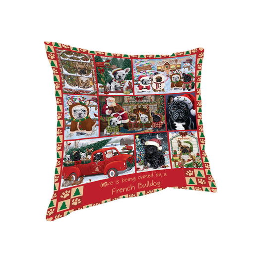 Love is Being Owned Christmas French Bulldogs Pillow PIL85756