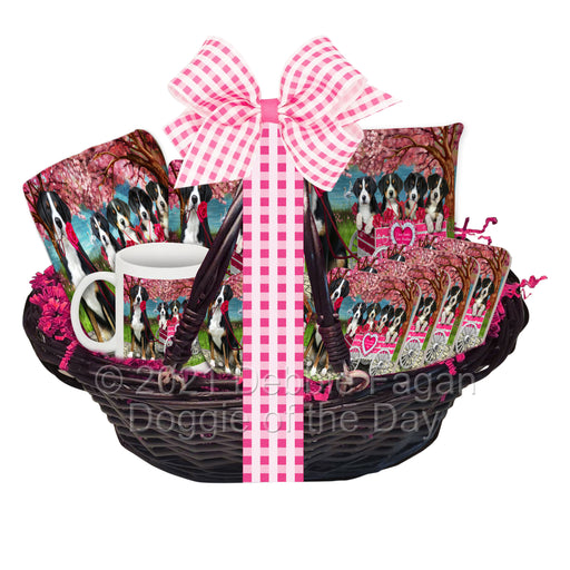 Mother's Day Gift Basket Greater Swiss Mountain Dogs Blanket, Pillow, Coasters, Magnet, Coffee Mug and Ornament