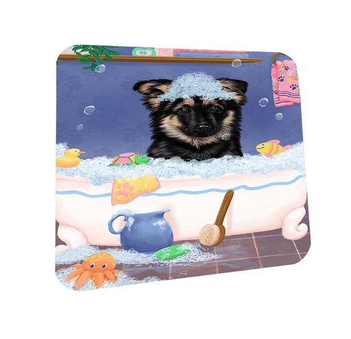 Rub A Dub Dog In A Tub German Shepherd Dog Coasters Set of 4 CST57327
