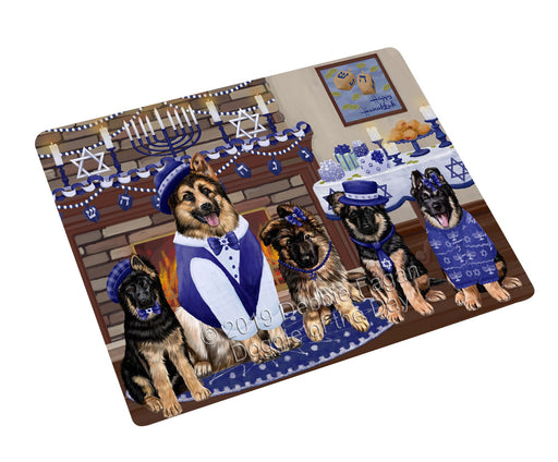 Happy Hanukkah Family and Happy Hanukkah Both German Shepherd Dogs Large Refrigerator / Dishwasher Magnet RMAG105480