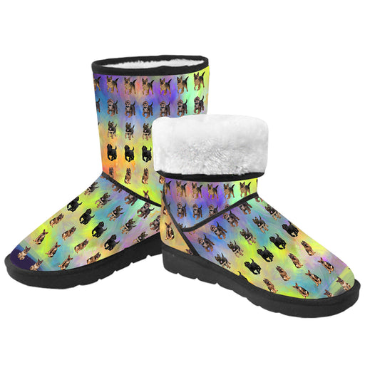 Paradise Wave German Shepherd Dogs  Kid's Snow Boots